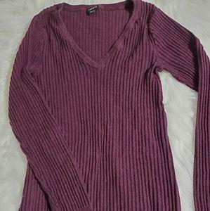 Torrid Purple V Neck Long Sleeve Shirt